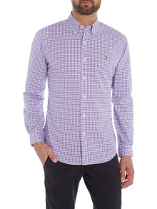 Polo Ralph Lauren Long Sleeve slim fit poplin gingham shirt