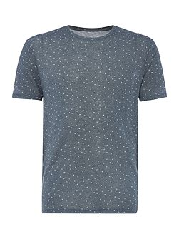 Ditsy Diamond All Over Graphic Tee