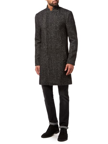 Label Lab Churner Longline Herringbone Coat
