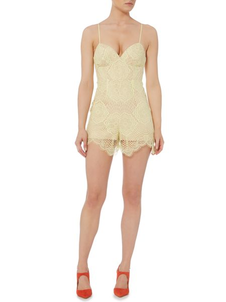 Bardot Sleeveless V Neck Playsuit