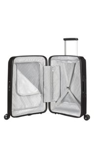 Samsonite Optic black 8 wheel 55cm cabin suitcase