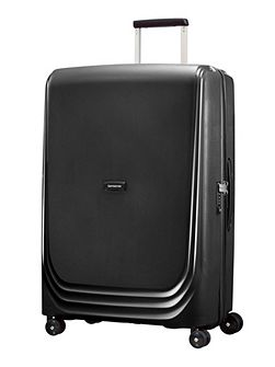 Optic black 8 wheel 75cm large suitcase