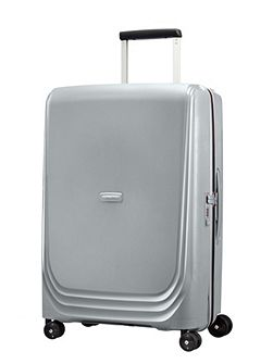 Optic silver 8 wheel 69cm medium suitcase