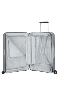 Samsonite Optic silver 8 wheel 69cm medium suitcase