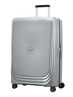 Optic silver 8 wheel 75cm large suitcase