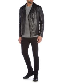 Label Lab Watson Leather Biker Jacket
