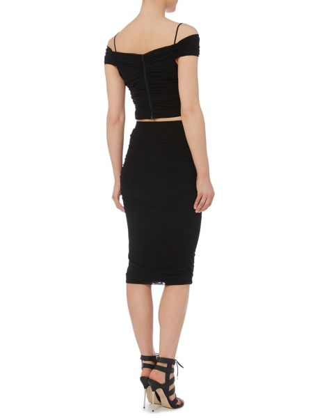 Bardot Rouched Midi Skirt