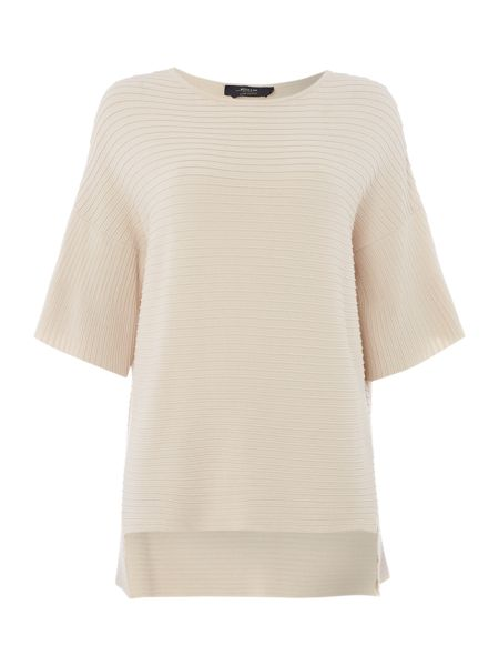 Max Mara Perla 3/4 sleeve ribbed jumper