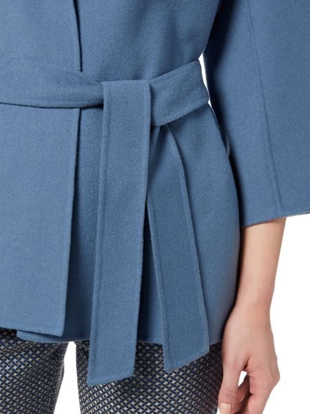Max Mara Cabiria double faced wool short belted coat