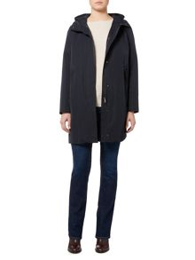 Max Mara Nilly long sleeve hooded raincoat