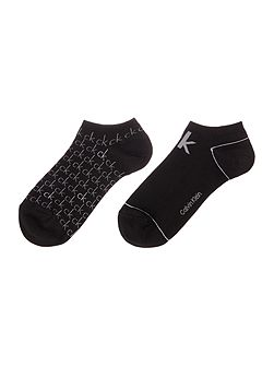 Repeat logo 2 pair pack trainer socks