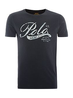Polo graphic crew neck tshirt