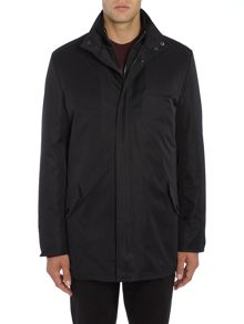Kenneth Cole Dylan funnel neck coat