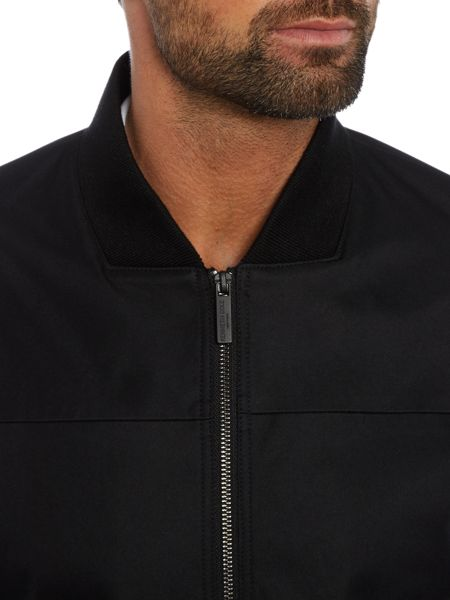 Kenneth Cole Camden Bomber Jacket with baseball collar