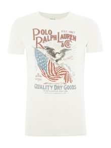Polo Ralph Lauren USA flag graphic crew neck tshirt