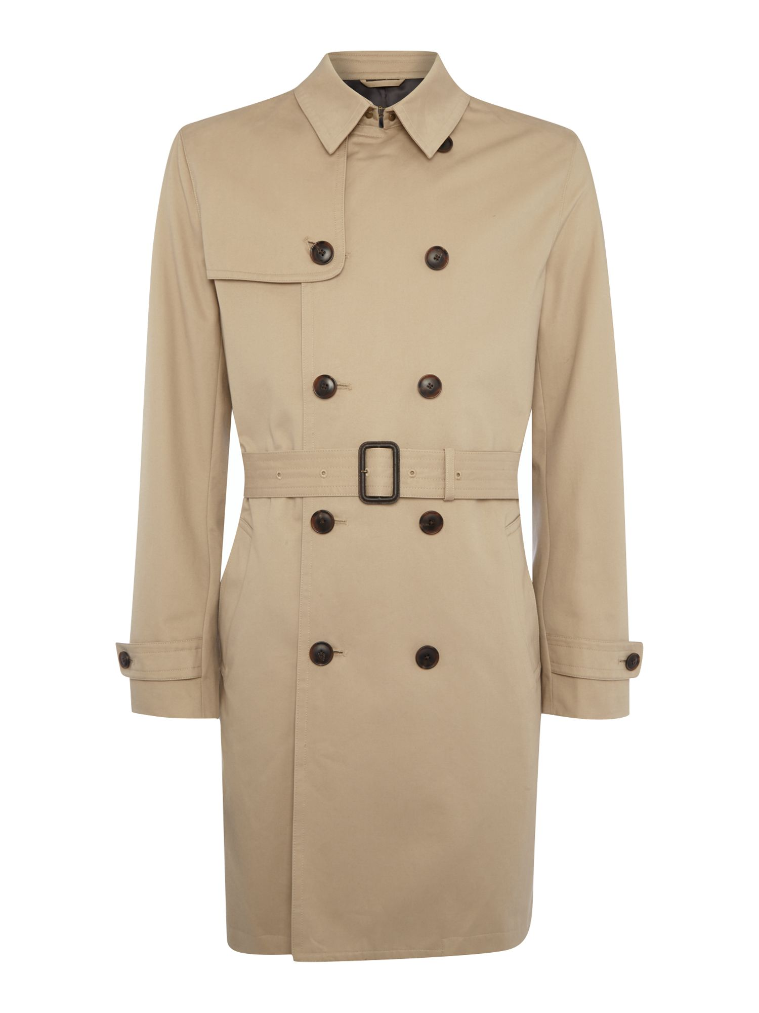 Men's Vintage Style Coats and Jackets Mens Howick Tailored Dale classic trench coat Stone £200.00 AT vintagedancer.com