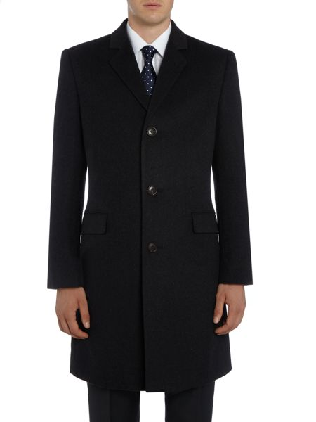 Howick Tailored Clinton SB3 notch lapel overcoat
