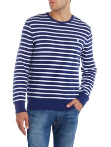Polo Ralph Lauren Terry stripe crew sweat