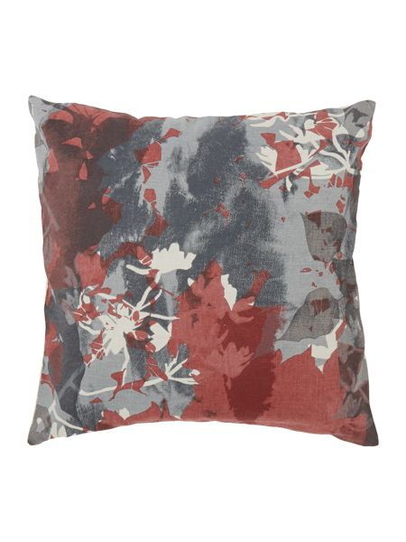 Linea Leaf collage cushion