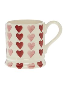 Emma Bridgewater Pink Hearts Stacked 1/2 Pint Mug