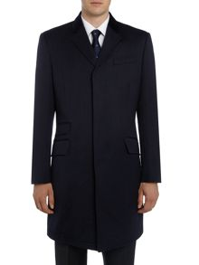 New & Lingwood Leyburn Epsom coat with velvet top collar