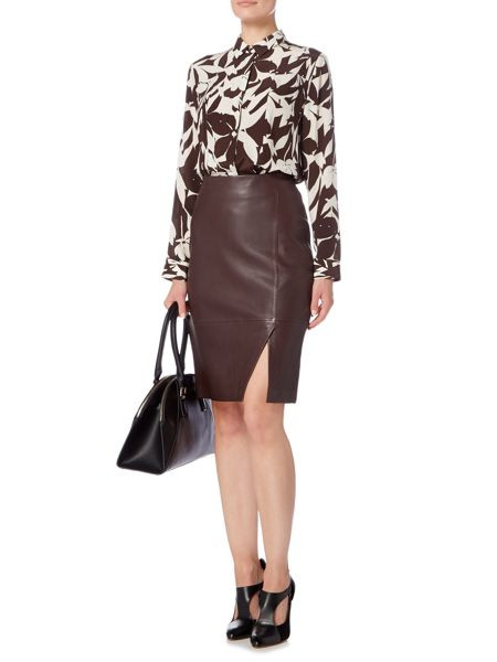 Linea Limited leather skirt