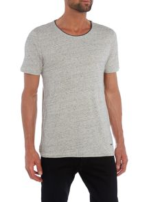 Hugo Boss Twidget grey marl crew neck short sleeve t shirt