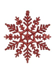 Linea Set of 12 Glitter Snowflakes