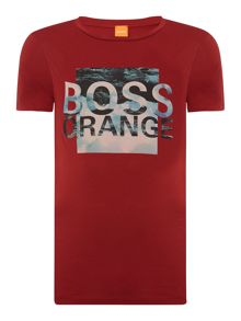 Hugo Boss Terko 1 graphic logo print crew neck t shirt