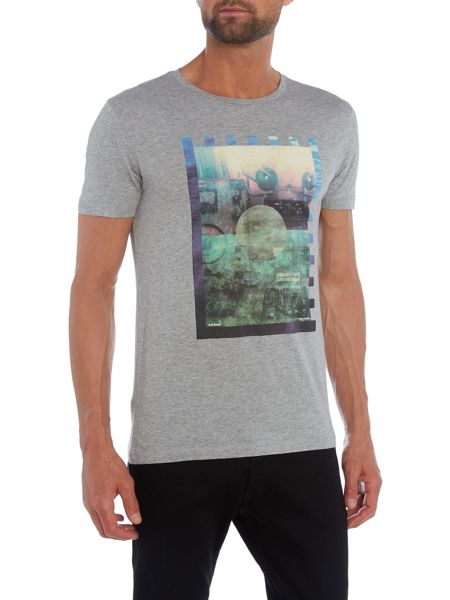 Hugo Boss Terko 2 photographic print crew neck t shirt