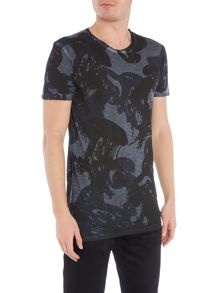 Hugo Boss Trixxer subliminal jellyfish print t shirt