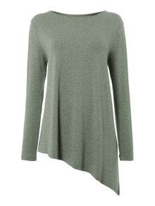 Gray & Willow Alia asymmetric hem top