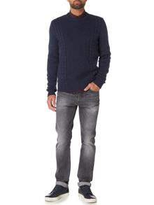 Criminal Logan Cable Stitch Jumper