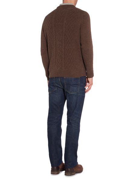 Howick Seeward Cable Crew Neck Jumper