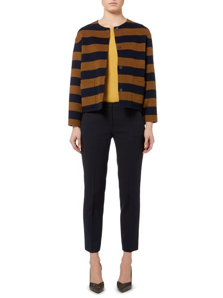 Max Mara Kuens long sleeved striped wool jacket