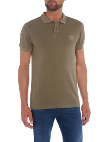 Hugo Boss Pascha slim fit square logo short sleeve polo