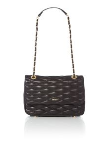 DKNY Gavensport black flapover chain shoulder bag