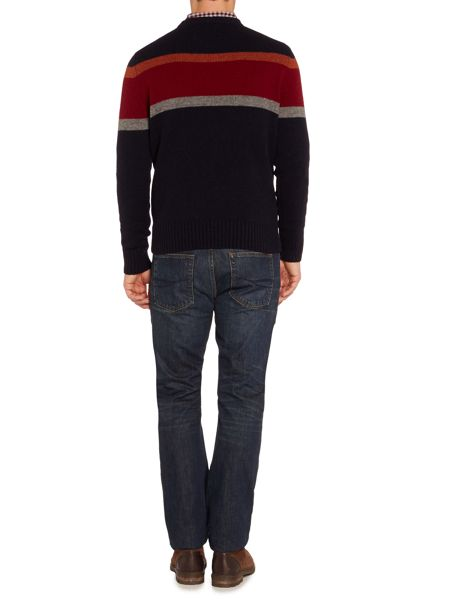 Howick Harvard Block Stripe Crew Neck Jumper