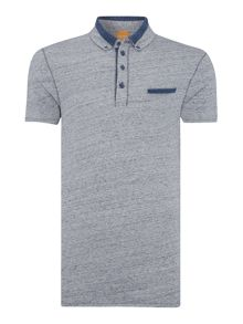 Hugo Boss Pyx slim fit contrast detail polo shirt