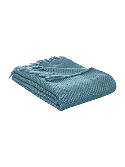 Metallic weave throw, teal