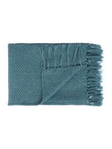 Biba Metallic weave throw, teal