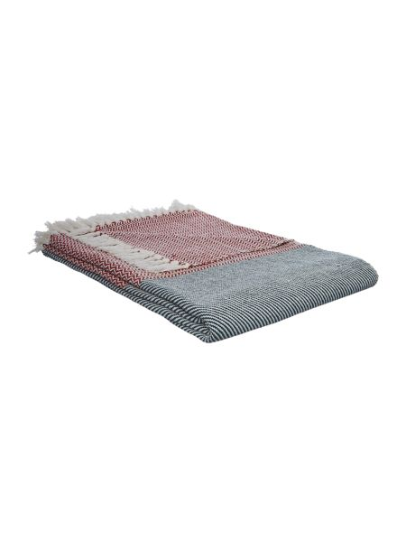 Living by Christiane Lemieux Contrast weave throw