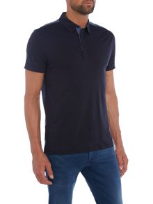 Hugo Boss Pyntax contrast back short sleeve polo shirt