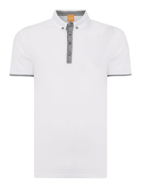 Hugo Boss Playott contrast placket short sleeve polo