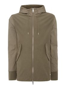 Hugo Boss Zoot hoodied zip through parker sweat