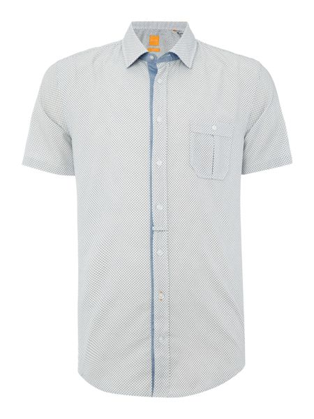 Hugo Boss Eslimye geo print short sleeve shirt