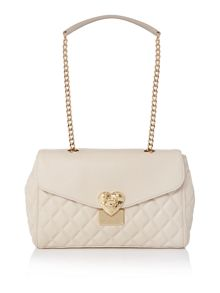 Love Moschino Superquilt ivory medium flapover shoulder bag