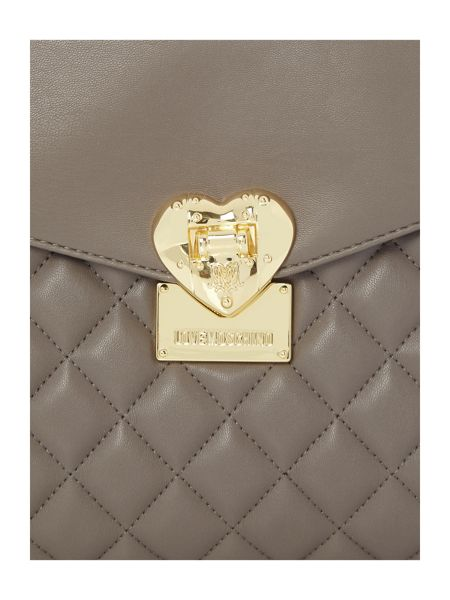 Love Moschino Superquilt grey medium tote bag