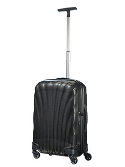 Cosmolite 3.0 black 4 wheel 55cm cabin suitcase