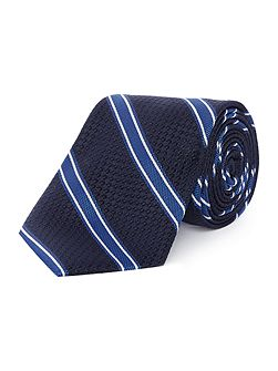 Cheverly textured base classic stripe tie